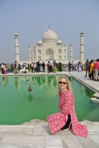 Inge at Taj Mahal