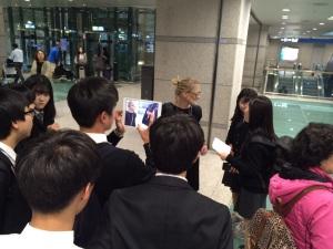 Inge at Seoul Airport